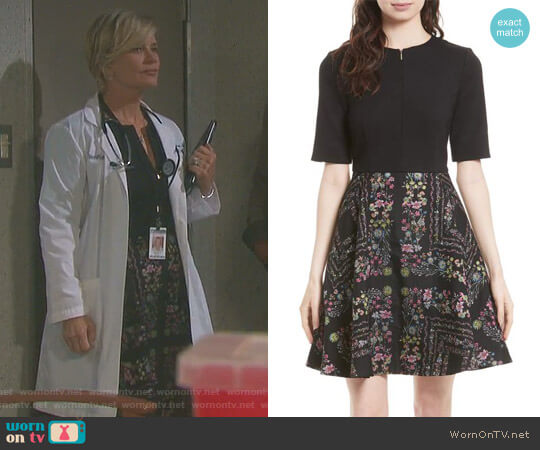 Mooris Dress by Ted Baker worn by Mary Beth Evans on Days of our Lives