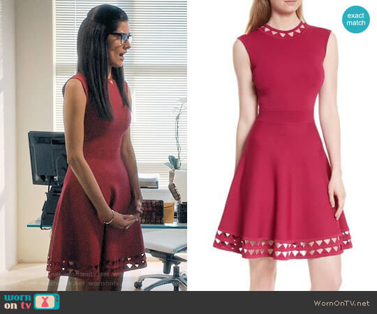 Ted Baker Kathryn Dress worn by Krishna (Shelly Bhalla) on Jane the Virgin