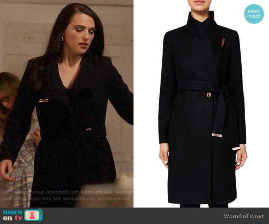 Ted Baker Kikiie Coat worn by Lena Luthor (Katie McGrath) on Supergirl