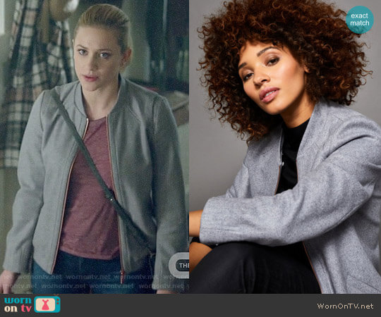 Ted Baker Robley Detachable Fur Collar Jacket worn by Betty Cooper (Lili Reinhart) on Riverdale