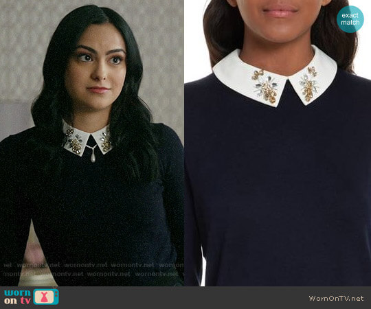 Ted Baker Suzaine Sweater worn by Veronica Lodge (Camila Mendes) on Riverdale