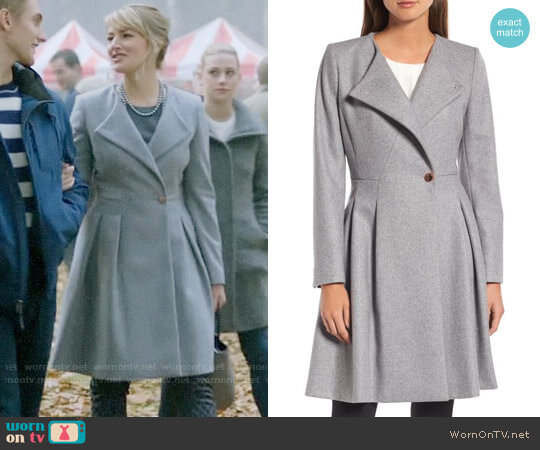 Ted Baker Wool Blend Asymmetrical Skirted Coat worn by Mädchen Amick on Riverdale