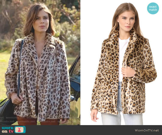 'Clairene' Coat by Theory worn by Nathalie Kelley on Dynasty