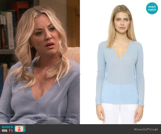 Theory Adrianna Sweater worn by Penny Hofstadter (Kaley Cuoco) on The Big Bang Theory