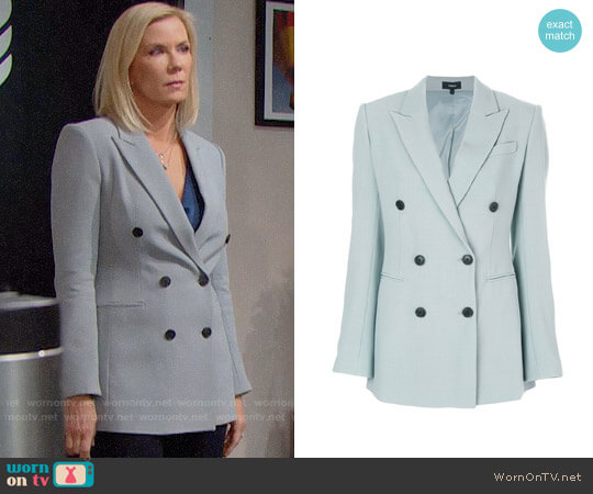 Theory Double Breasted Blazer worn by Katherine Kelly Lang on The Bold & the Beautiful