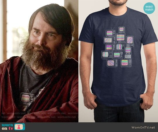 Threadless Interference T-shirt worn by Phil Miller (Will Forte) on Last Man On Earth