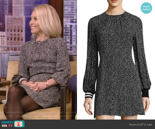 'Martine' Short Dress by Tibi worn by Kelly Ripa  on Live with Kelly & Ryan