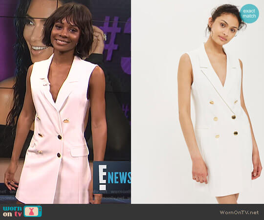 Double Breasted Blazer Dress by Topshop worn by Zuri Hall  on E! News