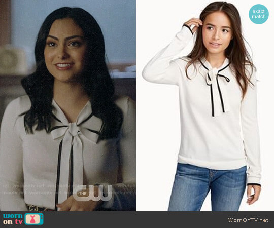 Twik Tie-neck Sweater worn by Veronica Lodge (Camila Mendes) on Riverdale