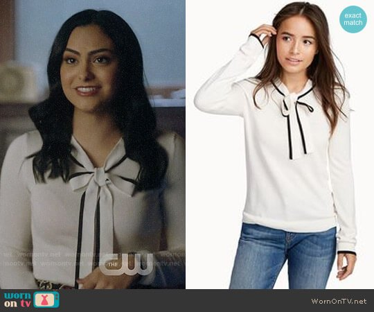Twik Tie-neck Sweater worn by Camila Mendes on Riverdale