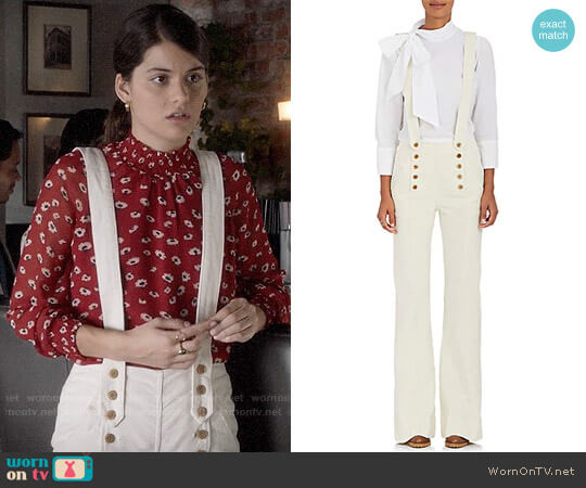 Ulla Johnson Ashton Overalls worn by Sofia Black D'Elia on The Mick