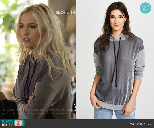 Velvet Alex Hoodie worn by Maddie Jaymes (Lennon Stella) on Nashville