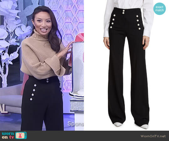 'Adley' Pants by Veronica Beard worn by Jeannie Mai  on The Real