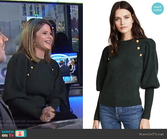 'Jude' Sweater by Veronica Beard worn by Jenna Bush Hager  on Today