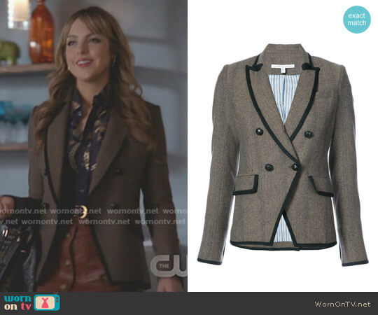Tweed Fitted Blazer by Veronica Beard  worn by Elizabeth Gillies on Dynasty