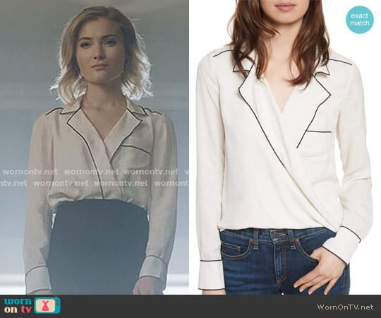 Worth Silk Blouse by Veronica Beard by Skyler Samuels on The Gifted