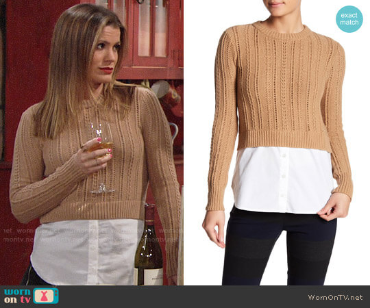 Veronica Beard Carli Sweater worn by Chelsea Lawson (Melissa Claire Egan) on The Young & the Restless