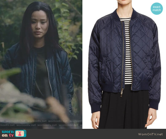 Quilted Bomber Jacket by Vince worn by Clarice Fong (Jamie Chung) on The Gifted