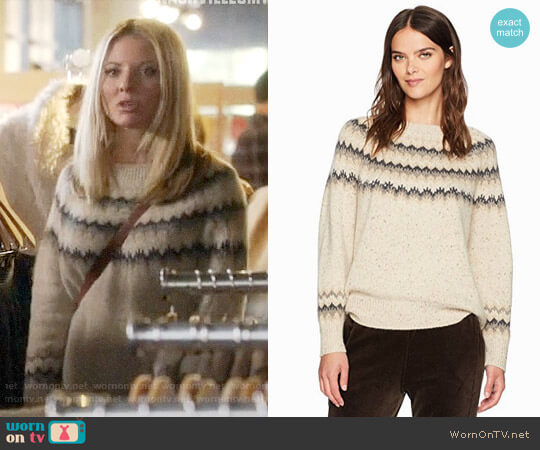 Vince Fair Isle Sweater worn by Jessie Caine (Kaitlin Doubleday) on Nashville