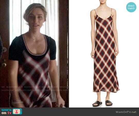 Vince Plaid Slip Dress worn by Clare Bowen on Nashville