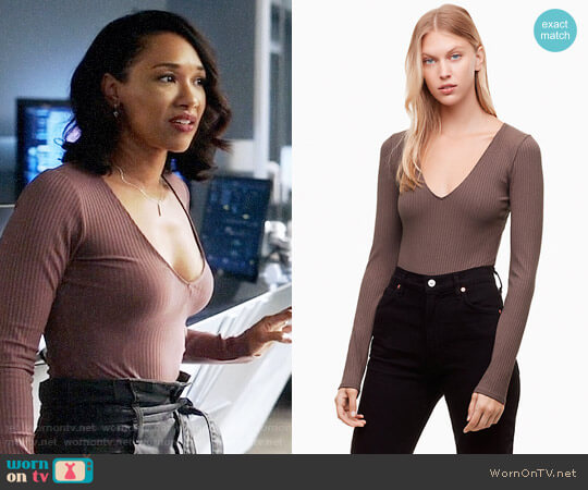 Wilfred Free Greenhough Bodysuit worn by Iris West (Candice Patton) on The Flash