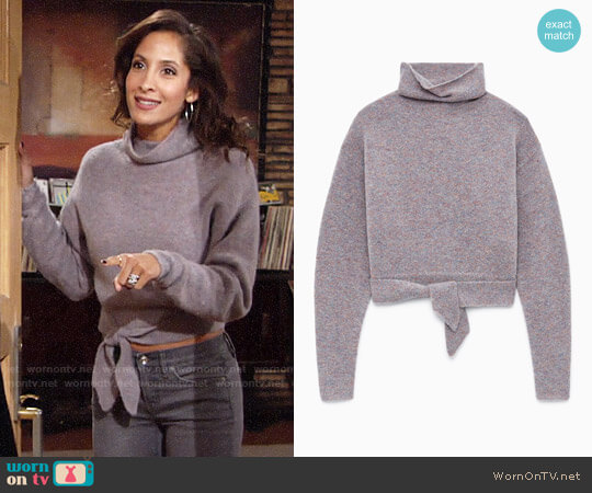 Wilfred Lorin Sweater worn by Lily Winters (Christel Khalil) on The Young & the Restless