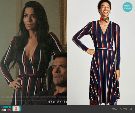 Zara Crossover Dress with Long Sleeves worn by Marisol Nichols on Riverdale