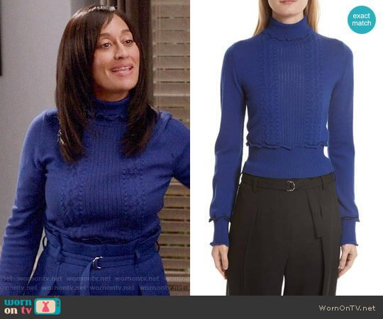 3.1 Phillip Lim Puffy Cable Turtleneck Sweater worn by Rainbow Johnson (Tracee Ellis Ross) on Blackish