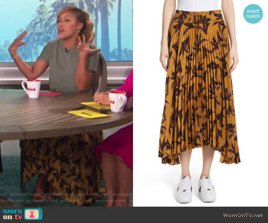 Maya Pleated A-Line Skirt by ALC worn by Eve  on The Talk