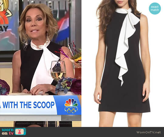 Ruffle Collar Shift Dress by Adrianna Papell worn by Kathie Lee Gifford  on Today