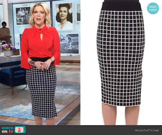 Grid Knit Pencil Skirt by Akris Punto worn by Megyn Kelly on Today