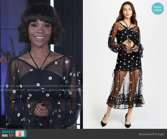 Alice McCall You're The One Top and Le Lady Skirt worn by Zuri Hall on E! News