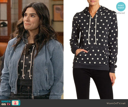 Alternative Athletic Hoodie in Polka Dots worn by Diane Guerrero on Superior Donuts