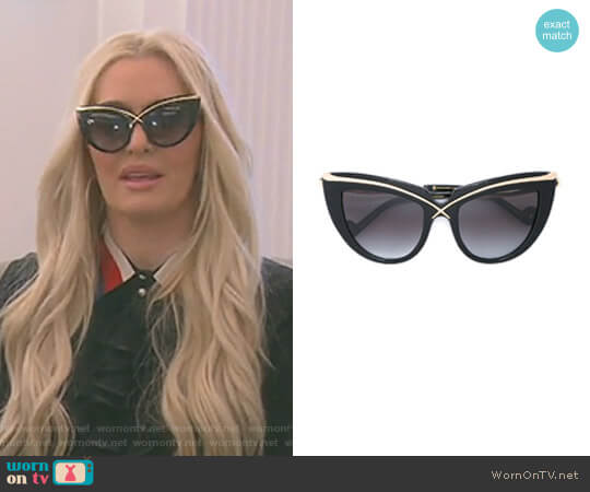 'Lusciousness' Sunglasses by Anna-Karin Karlsson worn by Erika Girardi on The Real Housewives of Beverly Hills