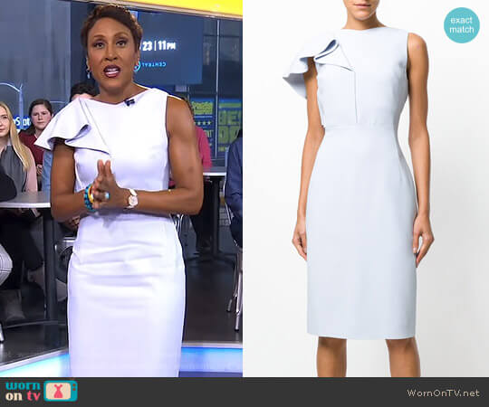 Ruffle Trim Dress by Antonio Berardi worn by Robin Roberts (Robin Roberts) on Good Morning America