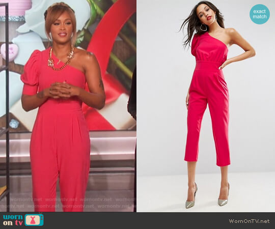 One Shoulder 80s Jumpsuit byu ASOS worn by Eve  on The Talk