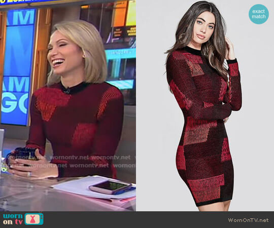 'Aubriella' Sweater Dress by Guess worn by Amy Robach on Good Morning America