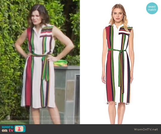Madalyn Dress by BCBGMAXAZRIA worn by Heather Hughes (Betsy Brandt) on Life in Pieces