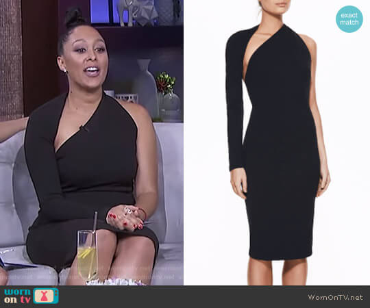 'Chloe' Dress by Bianca and Bridgett  worn by Tamera Mowry on The Real