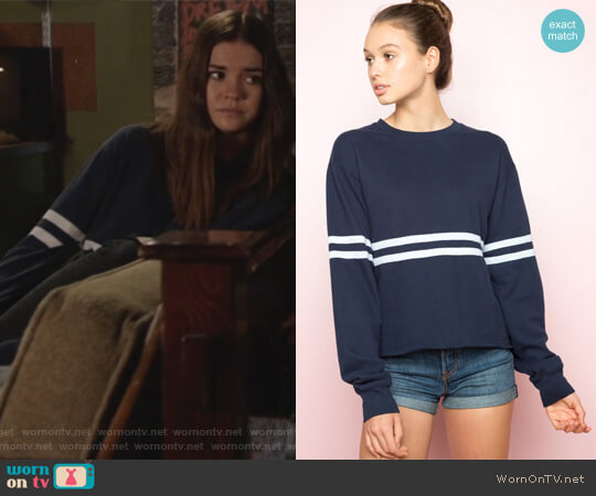 Acacia Sweatshirt by Brandy Melville worn by Maia Mitchell on The Fosters