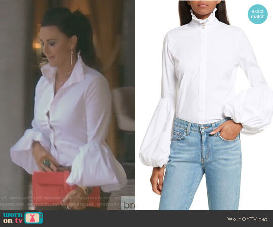 Jacqueline Blouse by Caroline Constas worn by Kyle Richards  on The Real Housewives of Beverly Hills