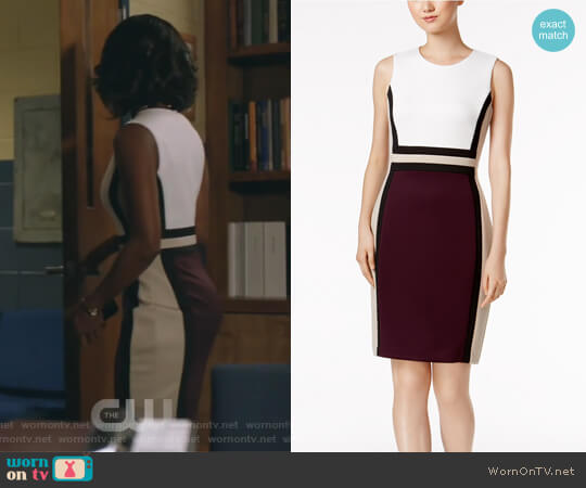 Colorblocked Sheath Dress by Calvin Klein worn by Kara Fowdy (Skye Marshall) on Black Lightning