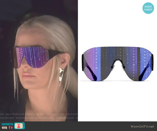 Shield Runway Sunglasses by Chanel worn by Erika Girardi on The Real Housewives of Beverly Hills