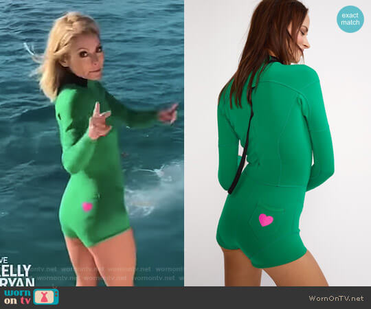 Cheeky High Tide Wetsuit by Cynthia Rowley worn by Kelly Ripa on Live with Kelly & Ryan