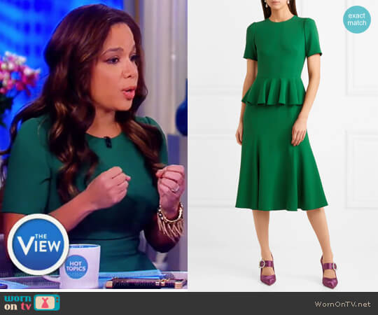 Crepe peplum dress by Dolce & Gabbana worn by Sunny Hostin on The View