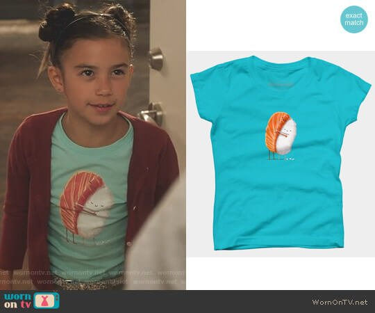 Lucifer Boo Normal: WornOnTV: Trixie's Blue Sushi T-shirt On Lucifer
