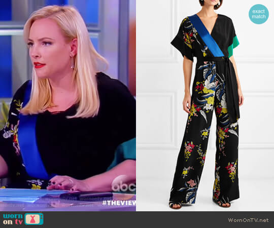 Faux Wrap Jumpsuit by Diane von Furstenberg worn by Meghan McCain  on The View
