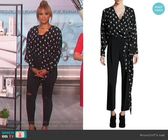 V-Neck Silk Wrap Blouse by Diane von Furstenberg worn by Eve on The Talk