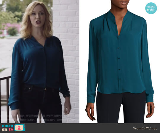 Bea Silk Blouse by Elie Tahari worn by Beth Boland (Christina Hendricks) on Good Girls