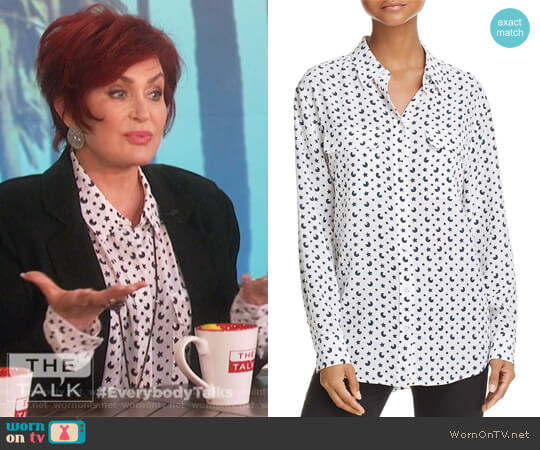 Signature Celestial Silk Shirt by Equipment worn by Sharon Osbourne on The Talk